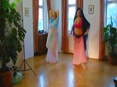 Sophie Mei and Shione Cooper nude belly dance