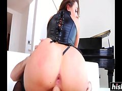 Chanel Preston in stockings gets drilled