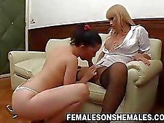 Shemale Boss Sheina Fucks Secretary