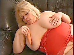SEXY MOM 59 bbw blonde mature masturbation