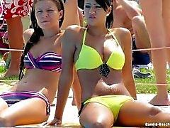 Stranden Teens bikinin Voyeur Särskilda HD