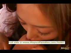 Akiho Yoshizawa innocent naughty Chinese girl has a lesbian foursome