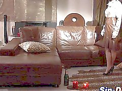 Classy euro lesbo gets fingered