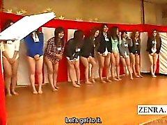 Subtitled boden der japanischen peinlich Gruppenspiel