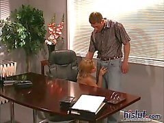 Cute Lainey banged in office