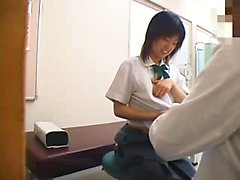 Schoolgirls go in for checkups and the doctor gets to grope