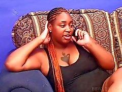 Slutty BBW lesbo ebony gets pussy licked