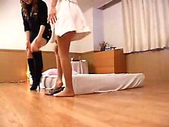 Striking Japanese babes drop their clothes and indulge in l