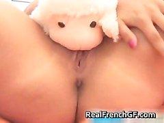 Amazing blond masturbating her fine part6