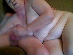 El abuelo y la abuela de tener sexo en cámara