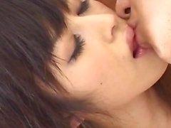 Haruna Ayase gets penis under golden thong