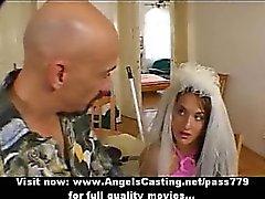 Braun haarigen bride tun Blowjob