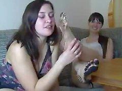 Sisters dirty feet
