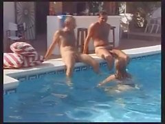 Poolside Threesome with Older Woman ( MMF )