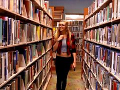 Kendra Sunderland webcam show at a college library flashing her breasts