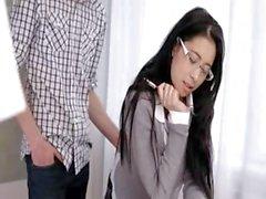 Beautiful wow secretary penetrated hard