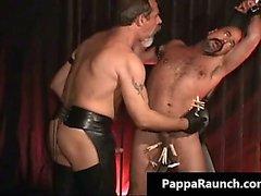 Homosexual rizado peligrosa por detrás obtiene la esclavitud y se pone part3
