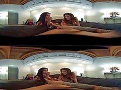VR Stereoscopic kolmesataakuusikymmentä - Jennifer Valkoisia & Dava Foxxx Jaa kukko VR