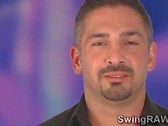 Pole dance bar turned on swingers party