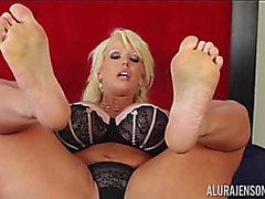 Alura Jenson solo foot fetish threatening-fearsome PornDoe