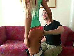 German Amateur Teen get fucked by the father of friend