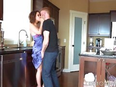 Gorgeous Busty Housewife Loves Draining Cock POV
