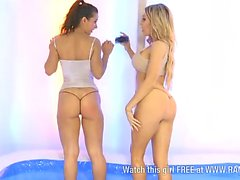 Tiffany Chambers & Ashley Emma in pool