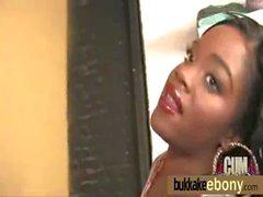 Ebony babe in group sex hardcore action 22
