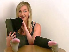 British girl's feet.