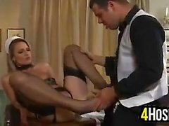Sexy Maid Fucked In The Ass