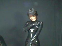 Japanes latex catsuit 6