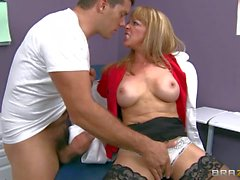 Nasty Dr Shayla Leveaux gives it to hot man