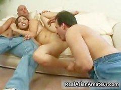 Hardcore asian hoe handles two throbbing part1