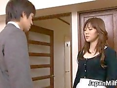 Busty Japanese wife Nanako Mori receives part1