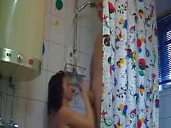 russian bitch from online shower fuck