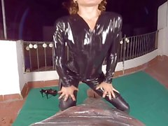 Kinky hunter Julia Roca in catsuit finds next victim
