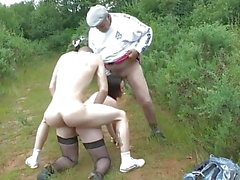 French anal slut goes dogging