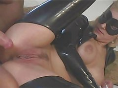 British Blonde Catsuit Anal
