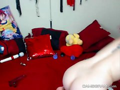 Stunning Big Tits Redhead Pussy Play