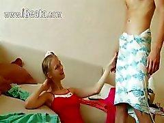Beata schoolgirl sucking huge cock