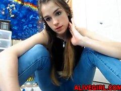 Skinny Lavenderia_Love masturbates her hairy pussy ALIVEGIRL