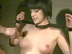 hot slavegirl gettinb bondaged and fucked
