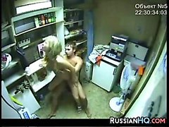 Russian Teens Caught Fucking