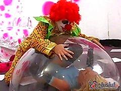 Jodie Moore banged by clown