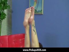 Foot fetish - Sexy babes fucking cock with their feet 28