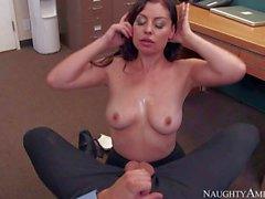 Hot ass Office slut Sovereign Syre fucking a new guy