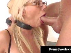 Hot amazona puma swede squirts quando fodido fundo em sua garganta