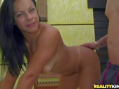 Naked brazilian babe Melissa Pitanga sucks dick like crazy