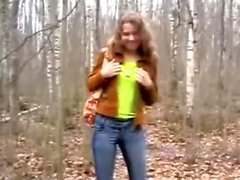 Amateur - Cute Teen sex in the woods