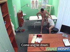 Fake Hospital Hired handyman cums all over pretty nurse